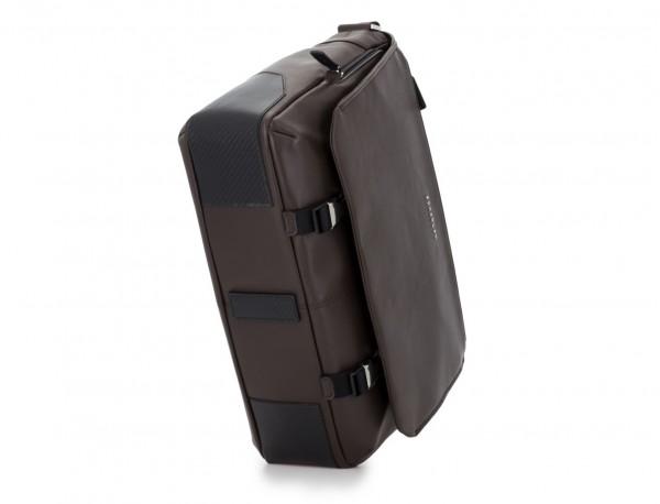 bolso mensajero de cuero marrón base