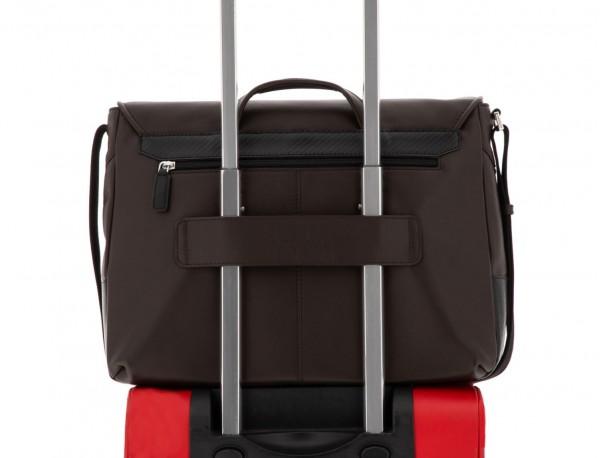 leather messenger bag brown trolley