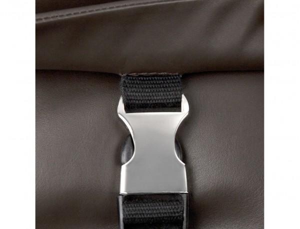 bolso mensajero de cuero marrón cierre