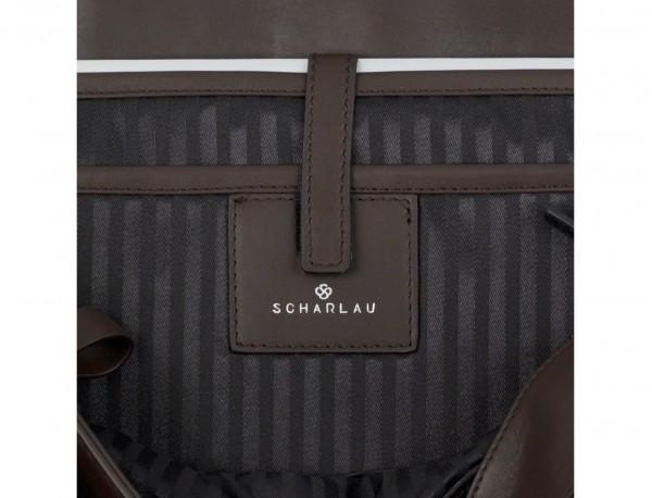 bolso mensajero de cuero marrón laptop