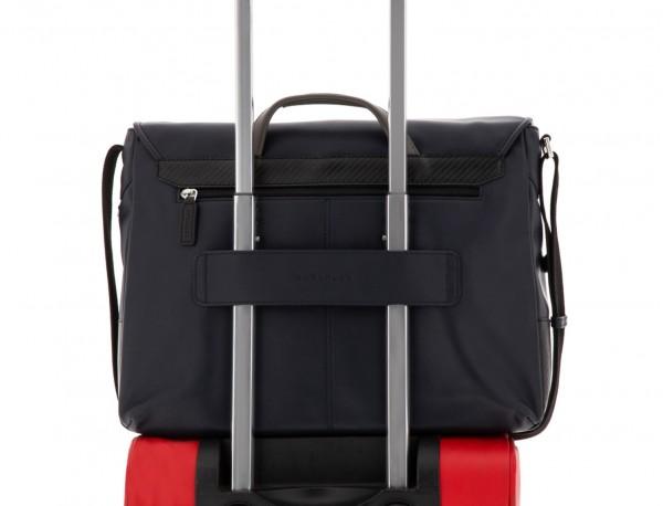 leather messenger bag blue trolley