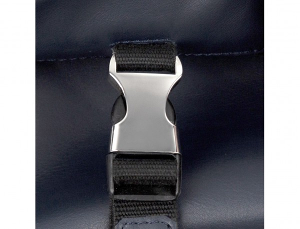 leather messenger bag blue clasp