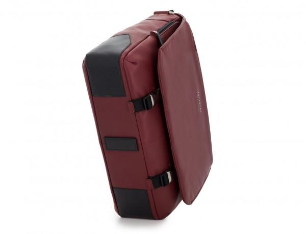 leather messenger bag burgundy base