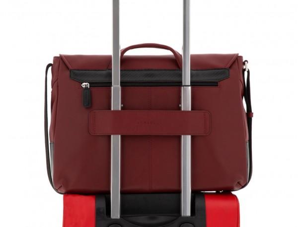 leather messenger bag burgundy trolley
