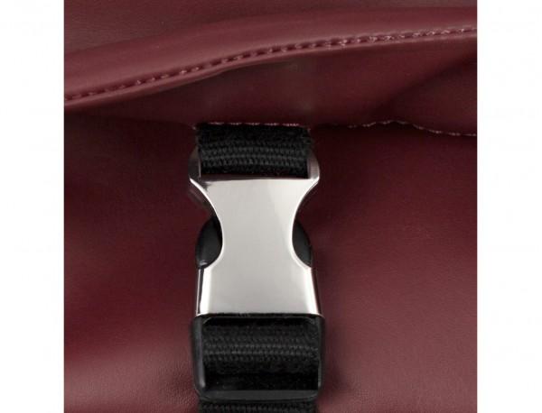 leather messenger bag burgundy clasp