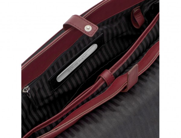 leather messenger bag burgundy personalized