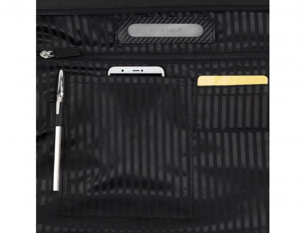 bolso mujer para ordenador de cuero negro personalizado