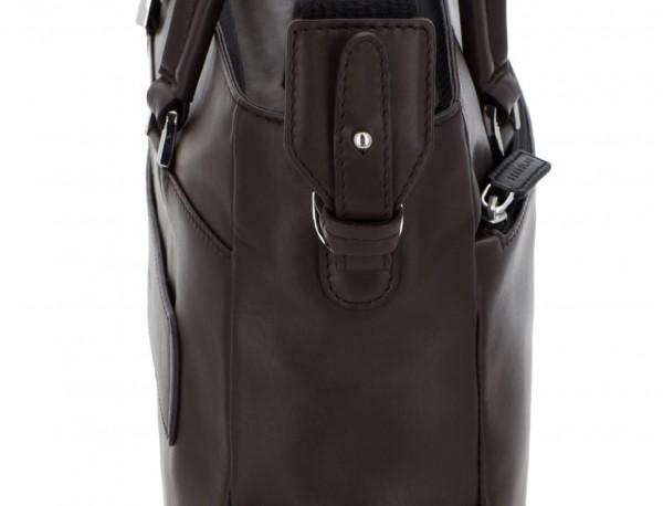 bolso mujer para ordenador de cuero marrón bandolera