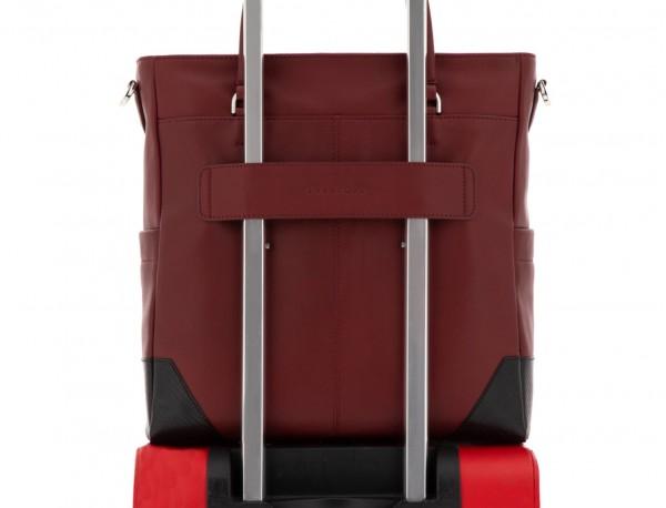 leather laptop woman bag burgundy trolley