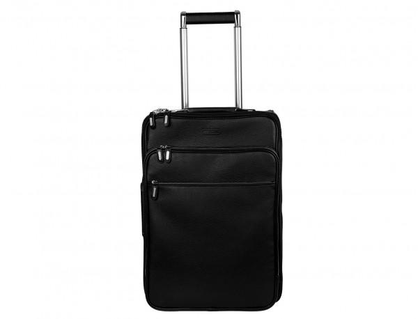 maleta de viaje de cuero tamaño cabina frontal