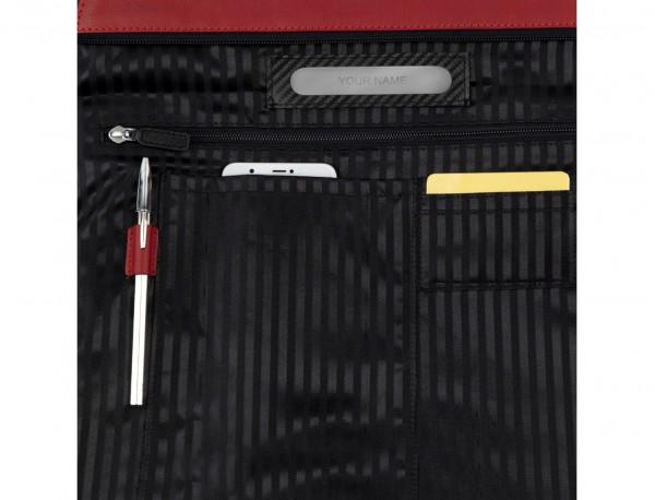 bolso mujer para ordenador de cuero rojo personalizado