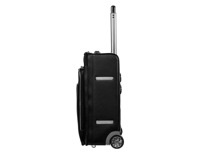 maleta de viaje de cuero tamaño cabina lado