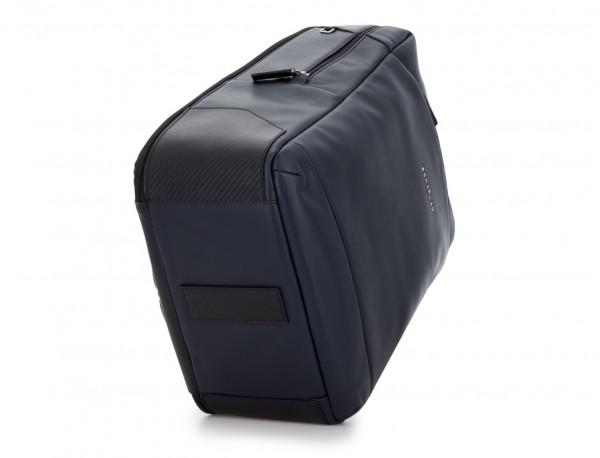 mochila de cuero para portátil azul base
