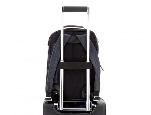 mochila de cuero para portátil azul trolley