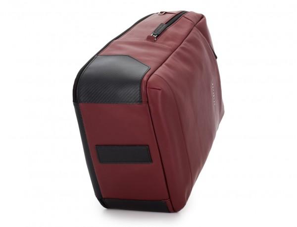 leather laptop backpack burgundy base