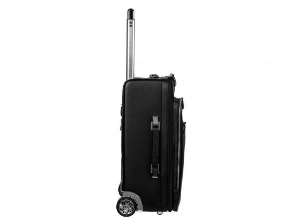 maleta de viaje de cuero tamaño cabina lateral