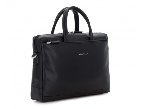 leather laptop bag black side