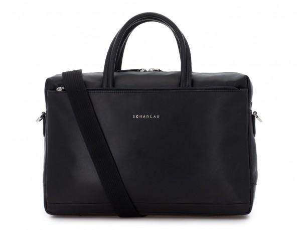 leather laptop bag black strap