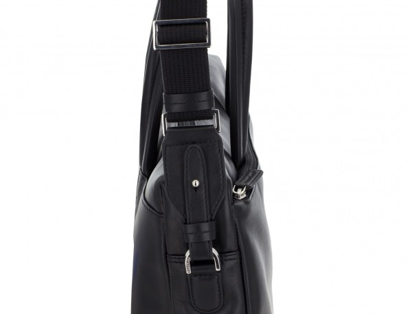 leather laptop bag black detail