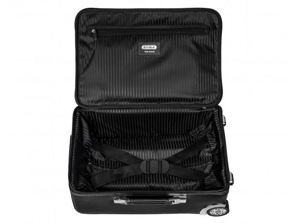 maleta de viaje de cuero tamaño cabina interior
