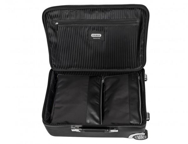 maleta de viaje de cuero tamaño cabina con accesorios