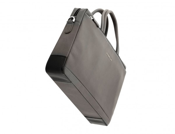 leather laptop bag gray base