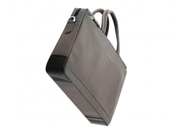 maletín de piel gris base