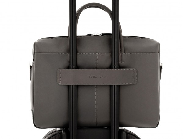 leather laptop bag gray trolley