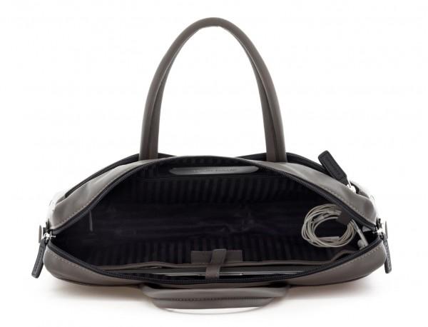 maletín de piel gris personalizado