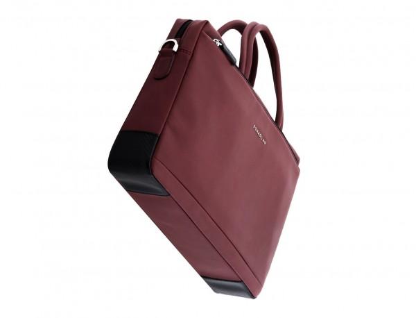 leather laptop bag burgundy base