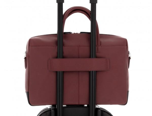 leather laptop bag burgundy trolley