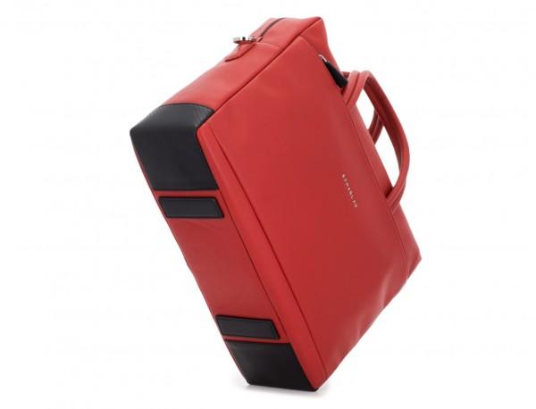 maletín grande de piel rojo base