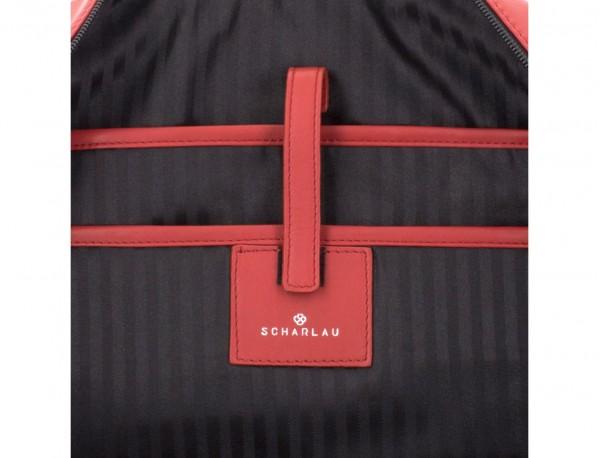 Cartella business grande in pelle red computer
