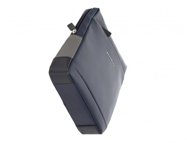 leather cross body bag blue side