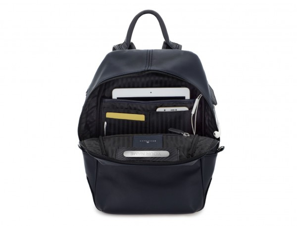small leather backpack blue tablet