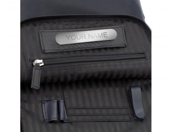 bolso bandolera de con solapa azul personalizado