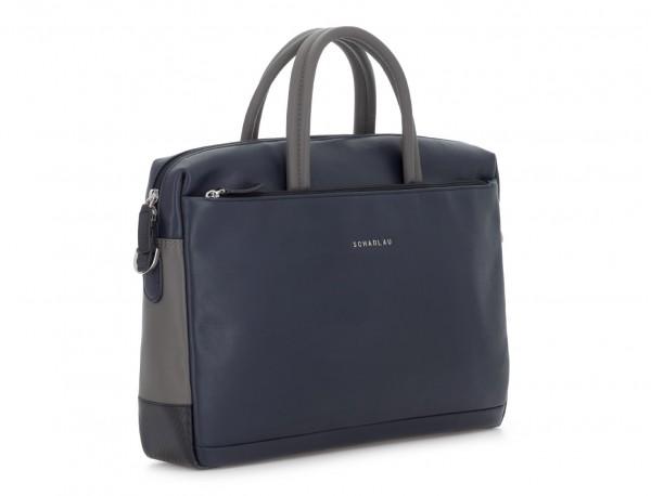 leather laptop bag blue dark side