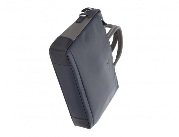 leather laptop bag blue dark base