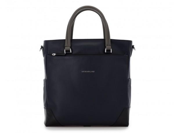 leather laptop woman bag dark blue front