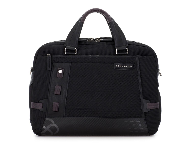 men laptop briefbag black front