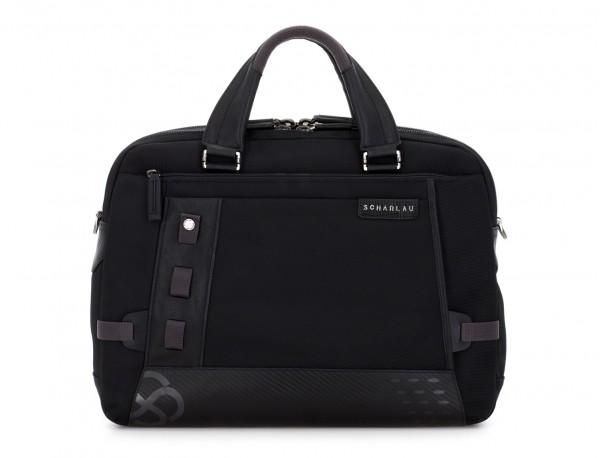 Cartella 2 scomparti per laptop nera front
