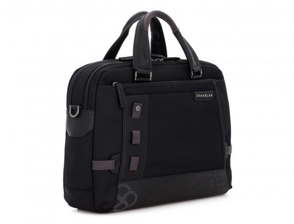 Cartella 2 scomparti per laptop nera side