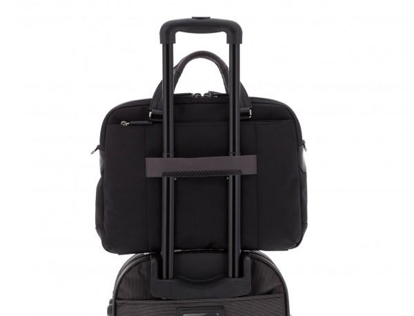 Cartella 2 scomparti per laptop nera trolley