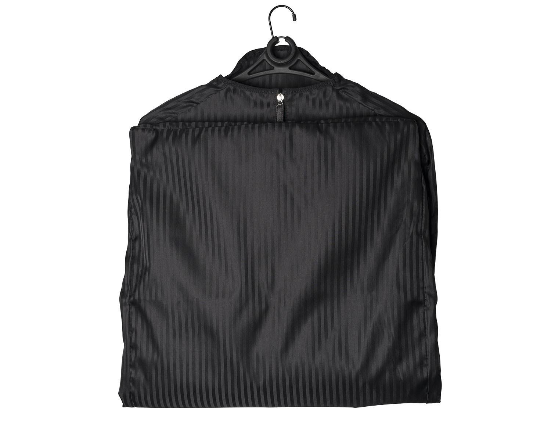 Porta trajes fino en negro frontal