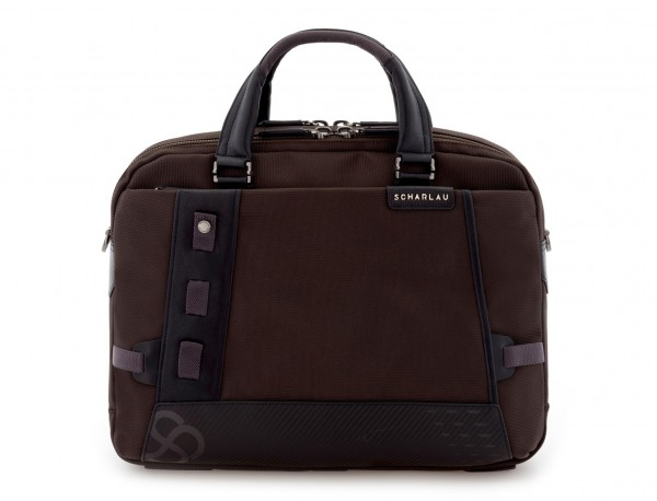 men laptop briefbag brown front