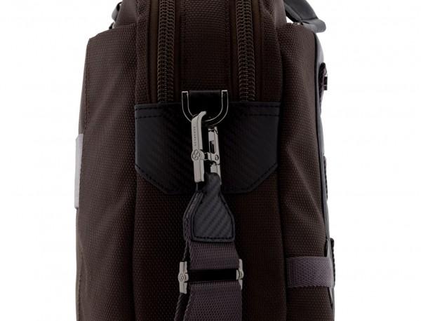 Cartella 2 scomparti per laptop marrone strap