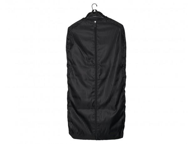 Garment bag in black open