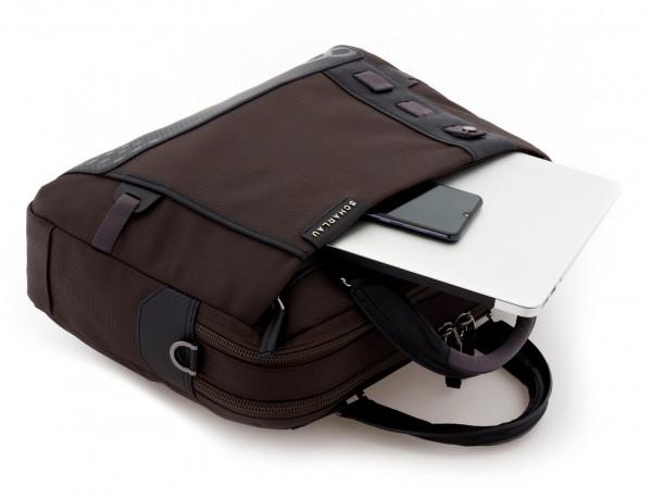 Cartella 2 scomparti per laptop marrone computer