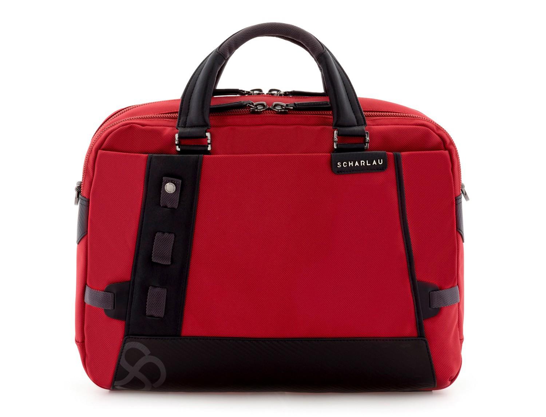 Cartella 2 scomparti per laptop rosso front