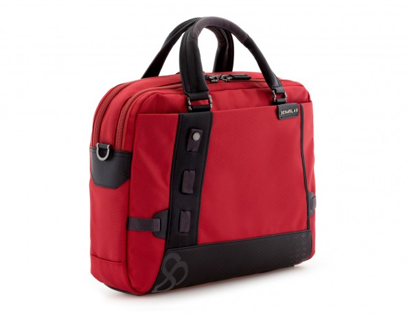 Cartella 2 scomparti per laptop rosso side